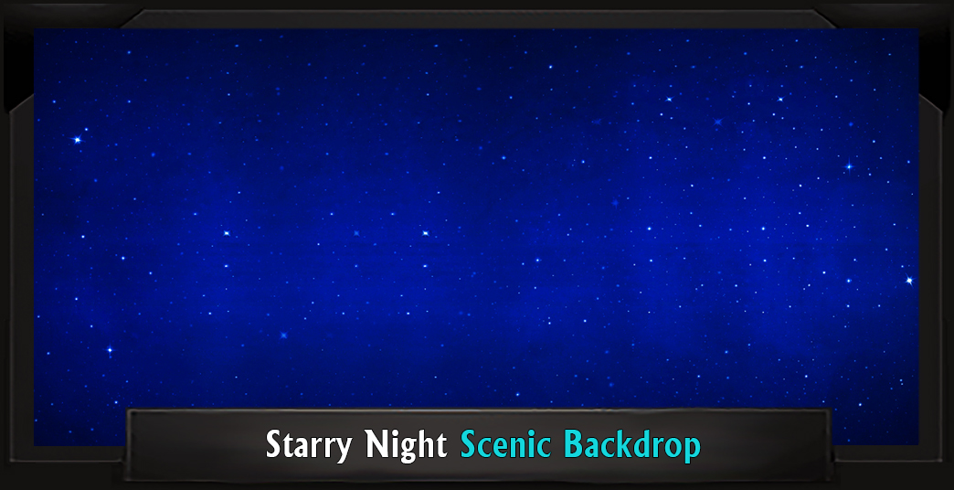 Starry Night Professional Scenic Grease Backdrop