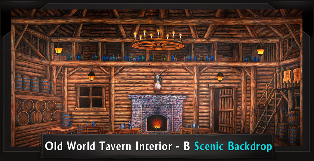 Old World Tavern Interior Professional Scenic High School Musical Backdrop