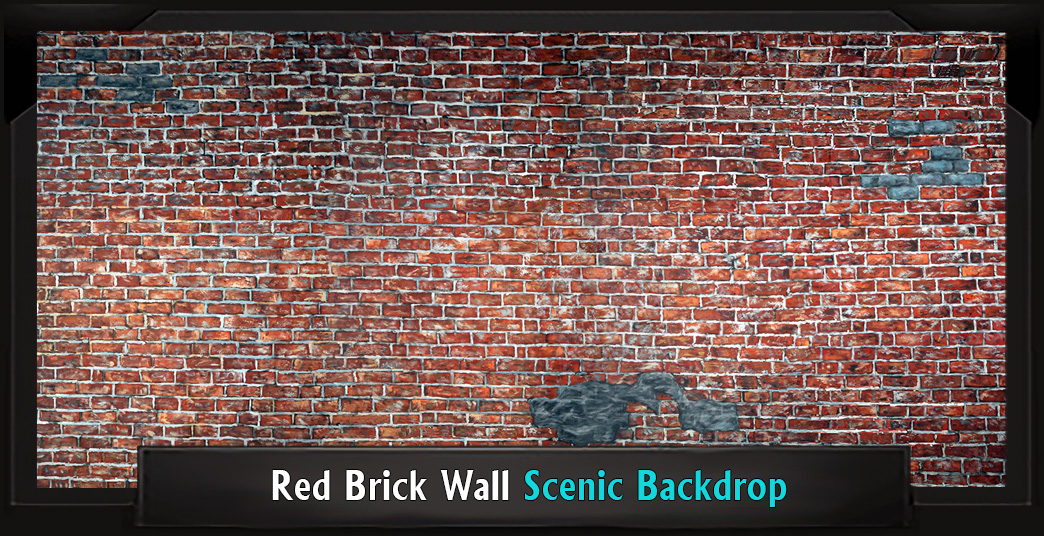 RED BRICK WALL Professional Scenic High School Musical Backdrop