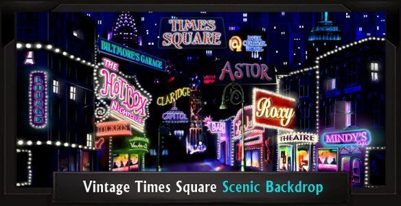 Vintage Times Square Scenic Backdrop