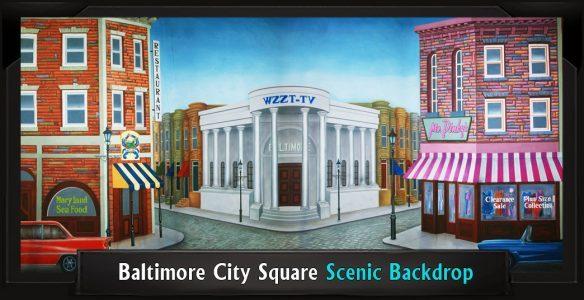 Baltimore City Square Scenic Backdrop