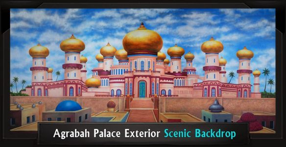 Agrabah Palace Exterior Scenic Backdrop