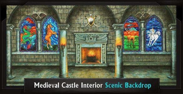 Medieval Castle Interior Scenic Backdrop