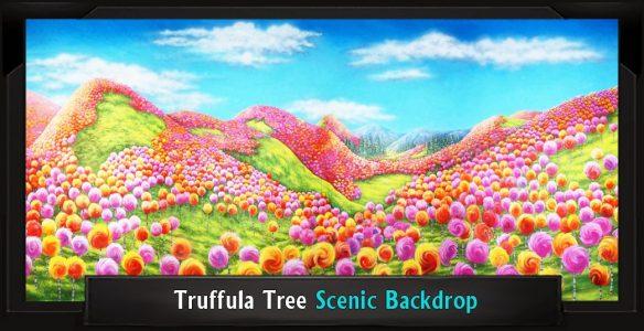 Truffula Tree Forest Scenic Backdrop