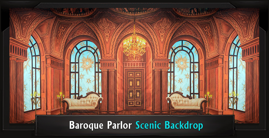 BAROQUE PARLOR Secret Garden Scenic Backdrop
