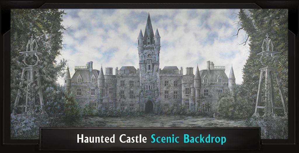 HAUNTED CASTLE Scenic Secret Garden Backdrop