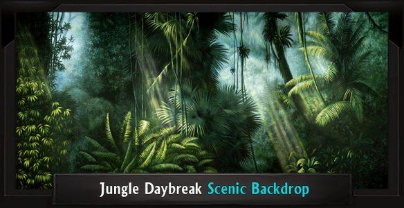 Jungle Daybreak Scenic Backdrop