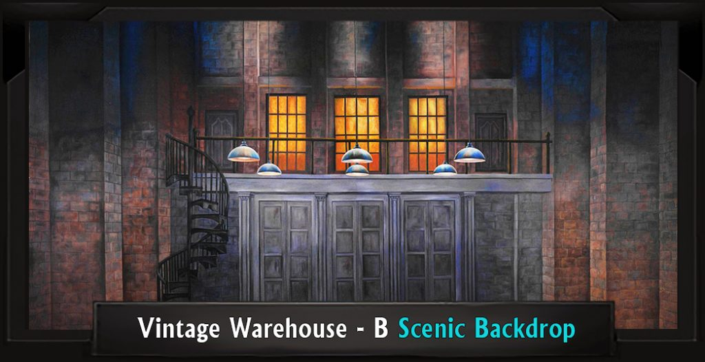 VINTAGE WAREHOUSE B Professional Scenic Thoroughly Modern Millie Backdrop