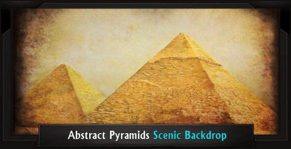 Abstract Pyramids Scenic Backdrop