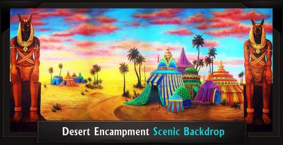 Desert Encampment Scenic Backdrop