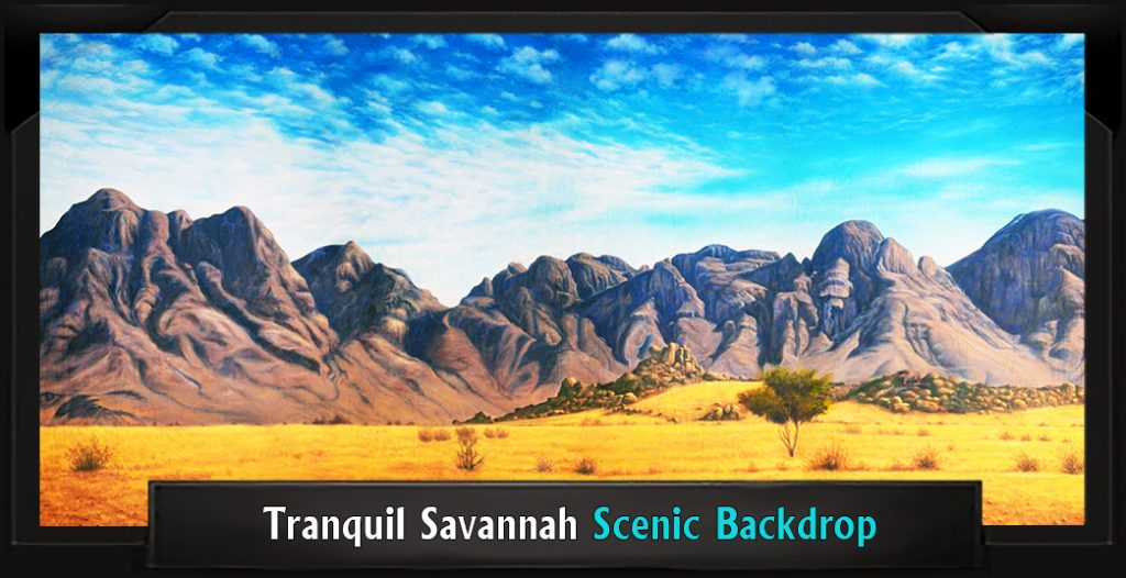 TRANQUIL SAVANNAH Professional Scenic Joseph and the Amazing Technicolor Dreamcoat Backdrop