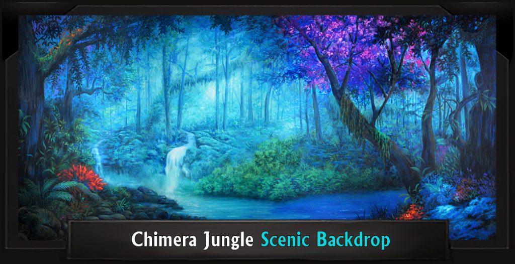 CHIMERA JUNGLE Professional Scenic Monty Python's Spamalot Backdrop