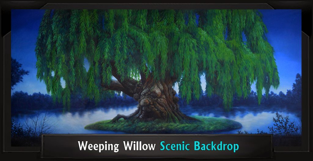 WEEPING WILLOW Professional Scenic Monty Python's Spamalot Backdrop