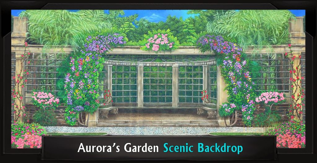 Professional Scenic AURORA'S GARDEN My Fair Lady Backdrop