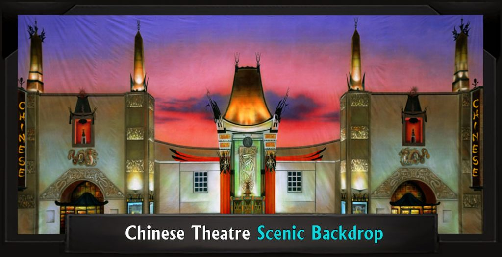 Professional Scenic CHINESE THEATER Singing in the Rain Backdrop