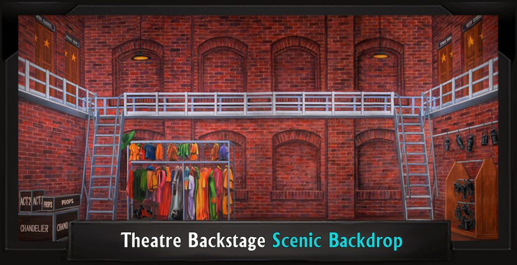 Theatre Backstage Professional Scenic SINGIN' IN THE RAIN Backdrop