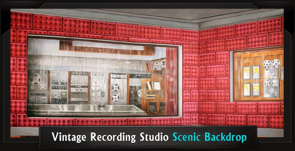 VINTAGE RECORDING STUDIO Professional Scenic How to Succeed Backdrop