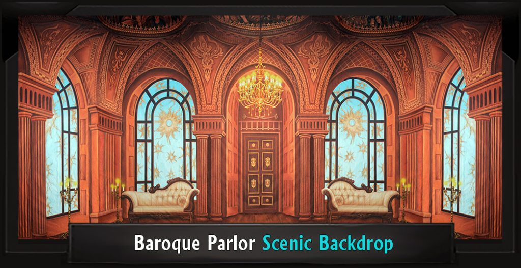 BAROQUE PARLOR Professional Scenic Sweeney Todd Backdrop