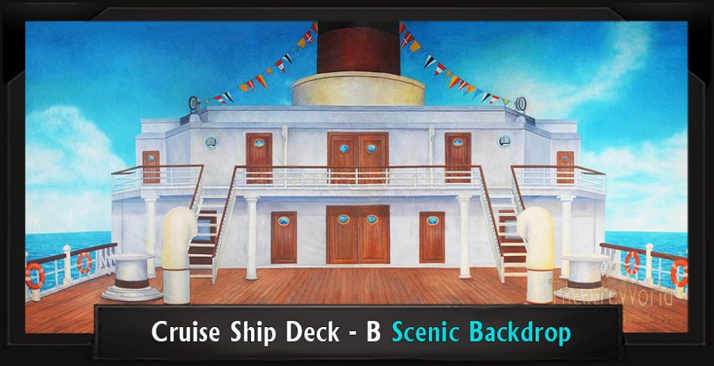 Professional Scenic James and the Giant Peach Backdrop CRUISE SHIP DECK - B