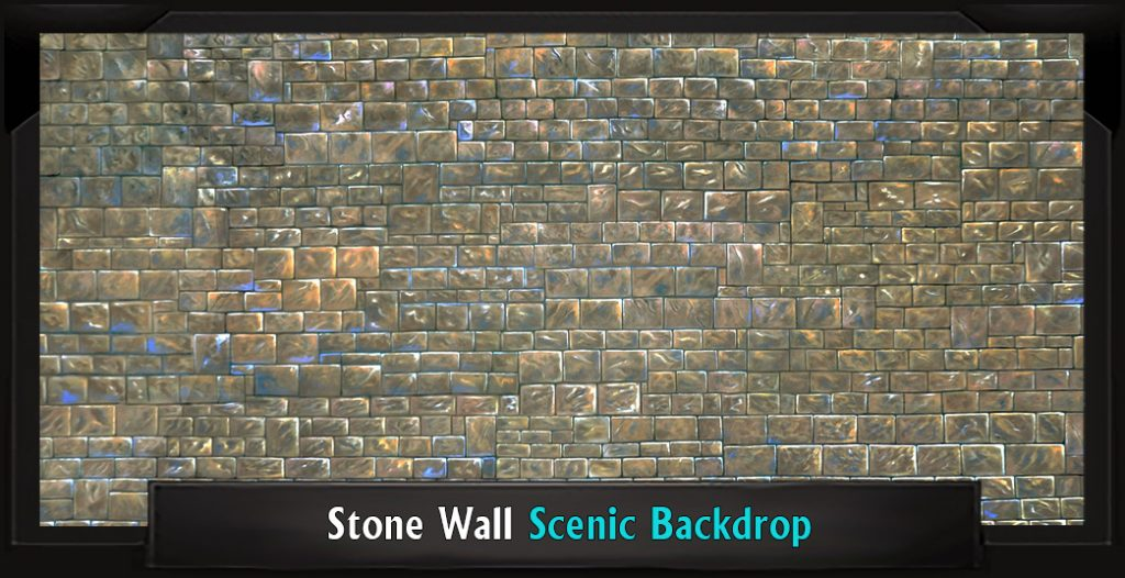 STONE WALL Professional Scenic Sister Act Backdrop