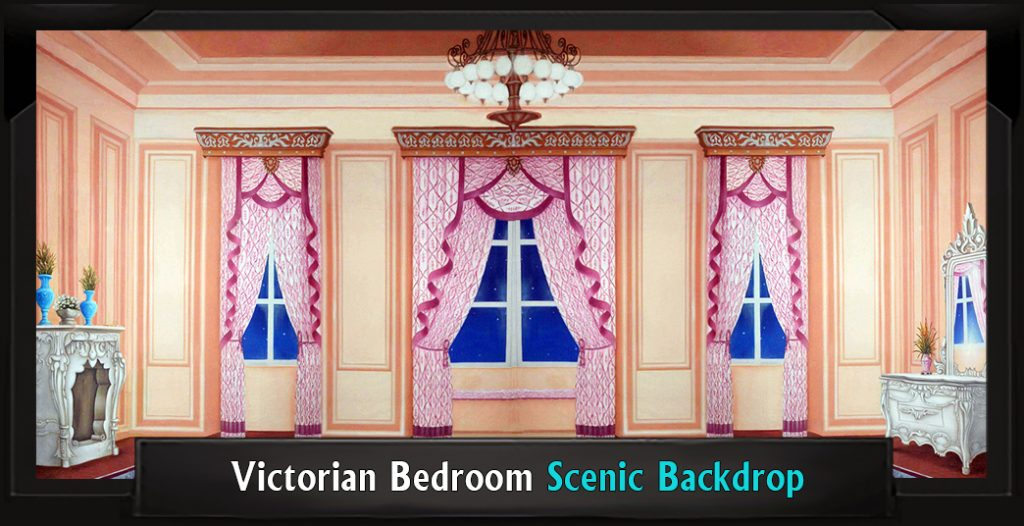 Scenic My Fair Lady VICTORIAN BEDROOM Backdrop